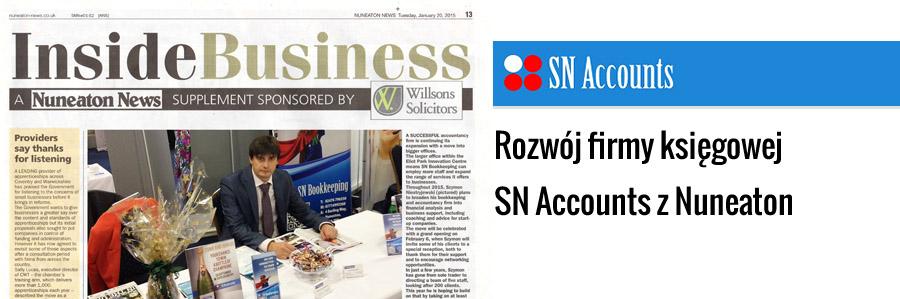 Rozwój firmy księgowej SN Accounts z Nuneaton