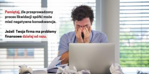 Likwidacja spółki LTD. Wszystkimi długami spółki zajmuje się Insolvency Practitioner, czyli odpowiednik polskiego syndyka masy upadłościowej. Twoi wierzyciele, w tym HMRC, nie mogą żądać spłaty zadłużenia, ponieważ podlega ono, jak cała firma, likwidacji.
