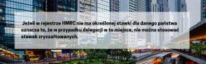 Ryczałt na podróże służbowe - Jeżeli w rejestrze HMRC nie ma określonej stawki dla danego państwa oznacza to, że w przypadku delegacji w to miejsce, nie można stosować stawek zryczałtowanych.