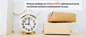 Amazon oczekuje, że minimum 97% realizowanych przez nas dostaw zostanie zrealizowanych na czas.