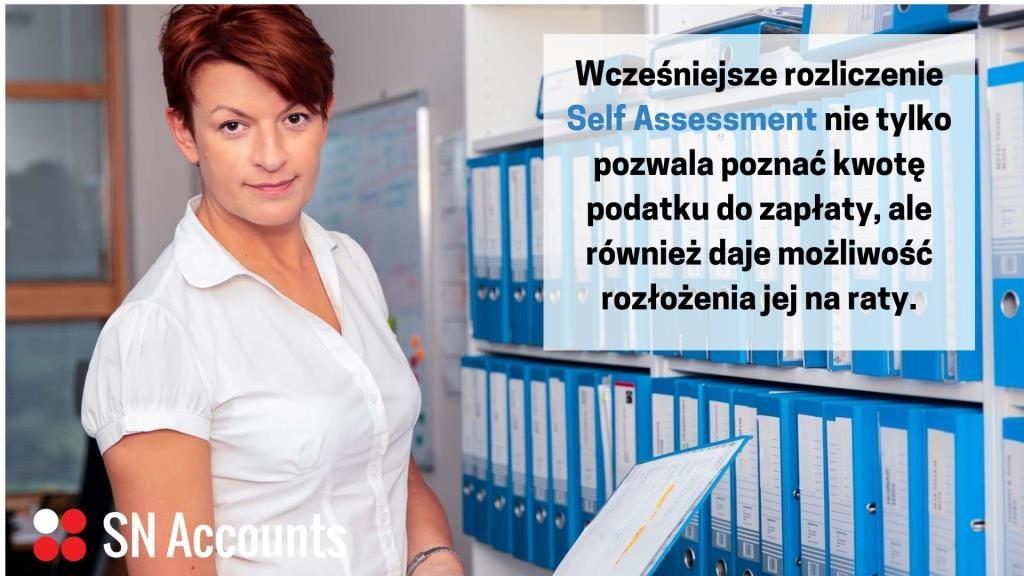 Rozliczenie wcześniej Self Assessment nie tylko pozwala poznać kwotę podatku do zapłaty, ale również daje możliwość rozłożenia jej na raty.