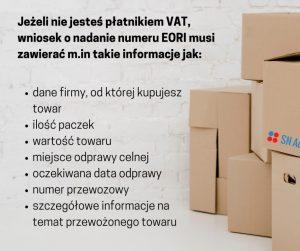 Numer EORI powinna posiadać każda firma, zarówno sole trader, jak i spółka LTD, która wysyła lub importuje towary z krajów spoza Unii Europejskiej w celach handlowych.